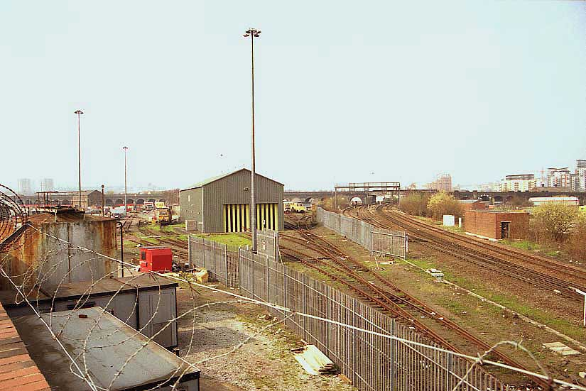 the entrance to the depot 2005